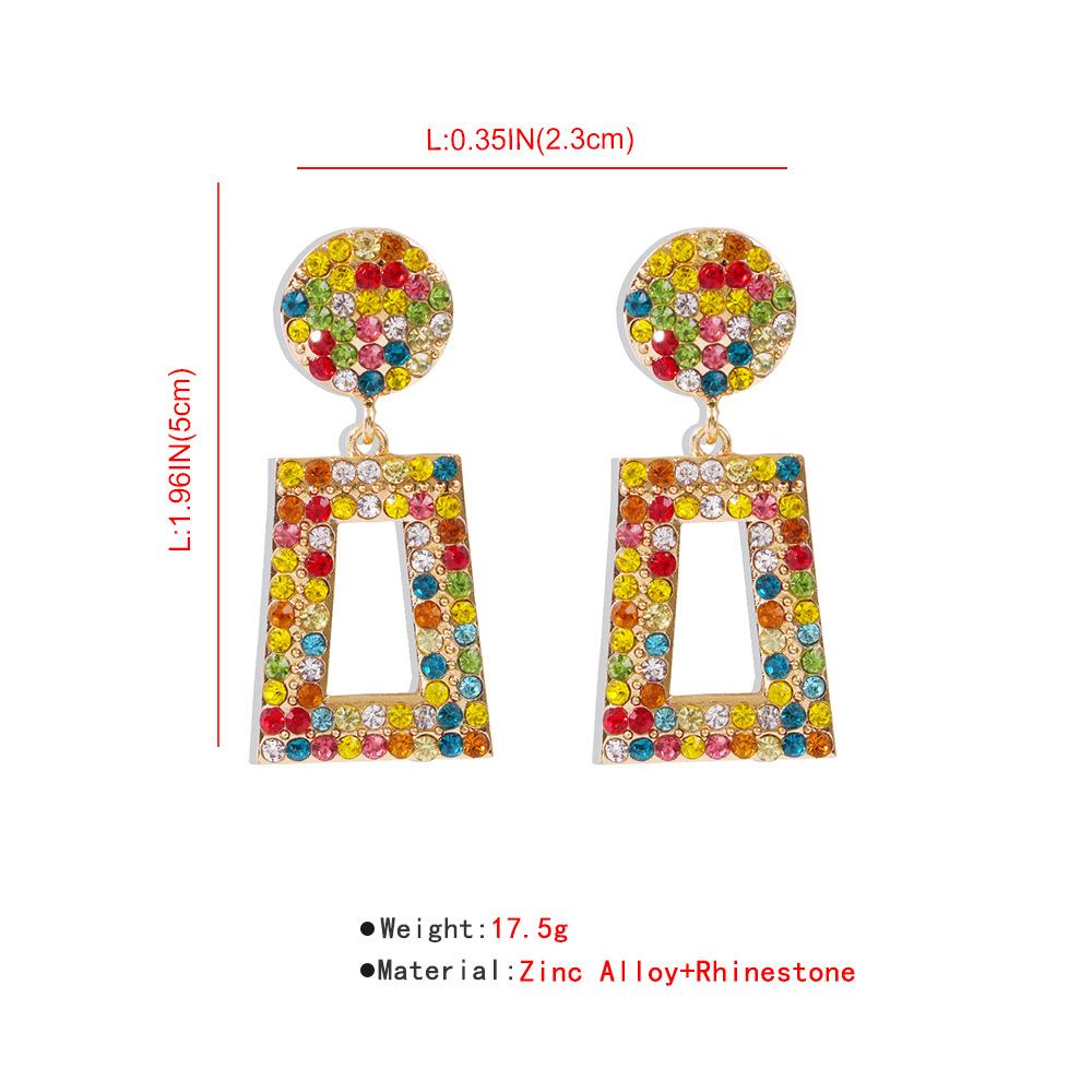 Fashion earrings long diamond geometric earrings for women fashion square earrings hot sale wholesale nihaojewery NHMD238189