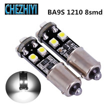 BA9S 1210 8SMD汽车LED示宽灯转向灯仪表角灯3528 8灯解码CANBUS
