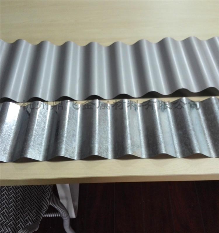 大连厂家0.8厚波高18银灰色9006 4S店外墙铝镁锰波纹板836型