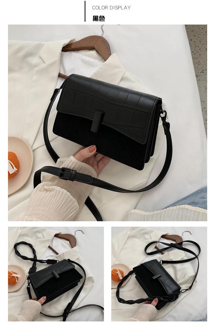 new trendy Korean  square bag wild one-shoulder messenger bag  NHJZ257082