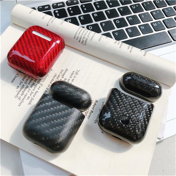 适用碳纤维AirPods保护套苹果无线蓝牙耳机充电盒保护壳P40手机壳