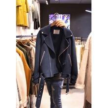 韩国东大门2020秋季新款女时尚纯色毛呢大衣女短款百搭夹克外套女