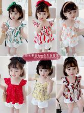 女童网红套装洋气儿童时髦短袖两件套三岁女宝宝夏装女孩夏天衣服