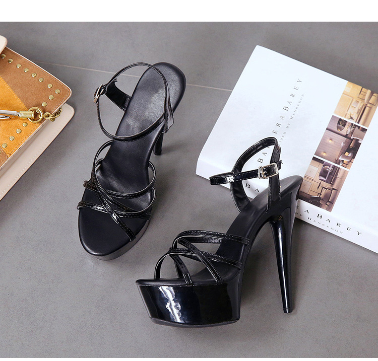 Summer new word sandals waterproof platform sexy nightclub super high heel sexy women's shoes NHSO200250