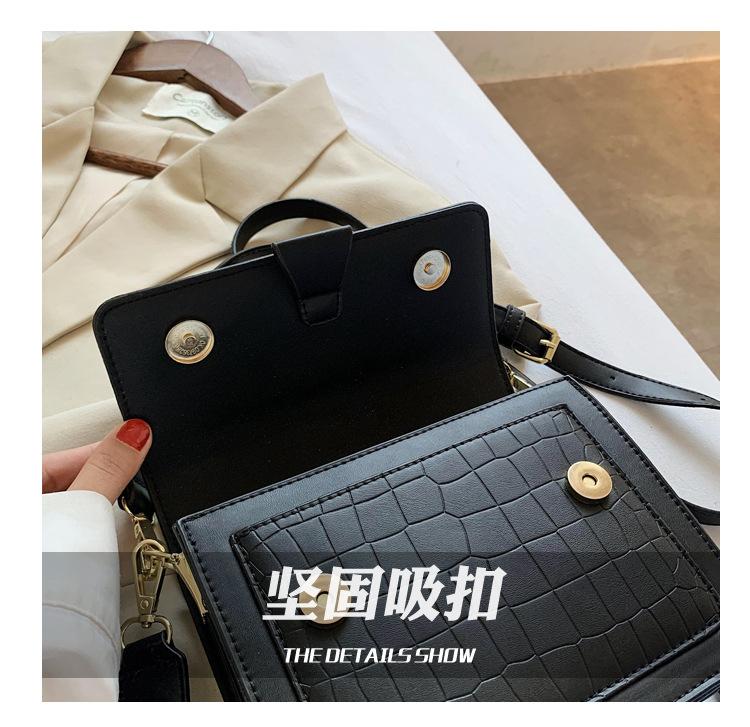 Autumn and winter women new fashion crocodile pattern crossbody small square bag  NHTC271676