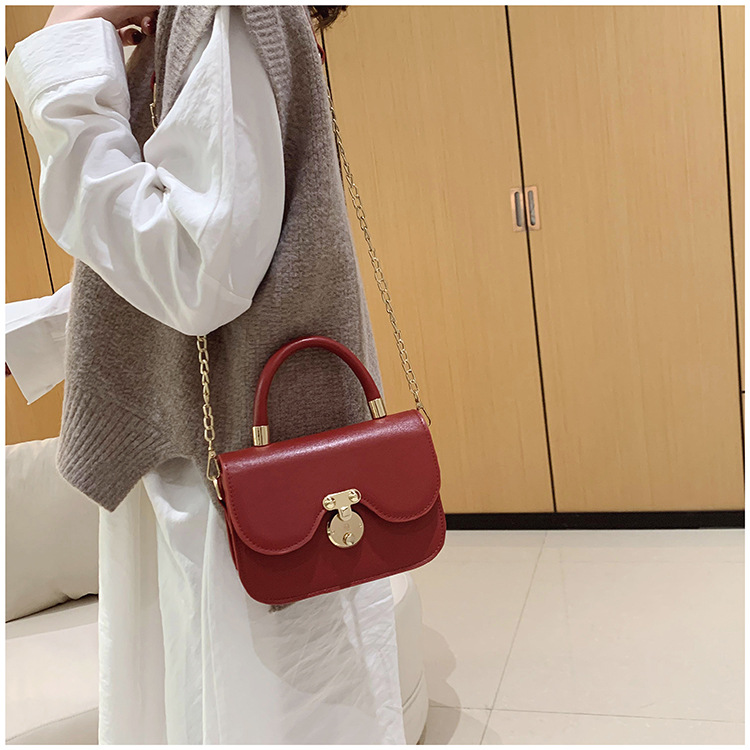 Bags Women's Bags New Fashion Texture Chain Bag Handbags Winter NHTC195575