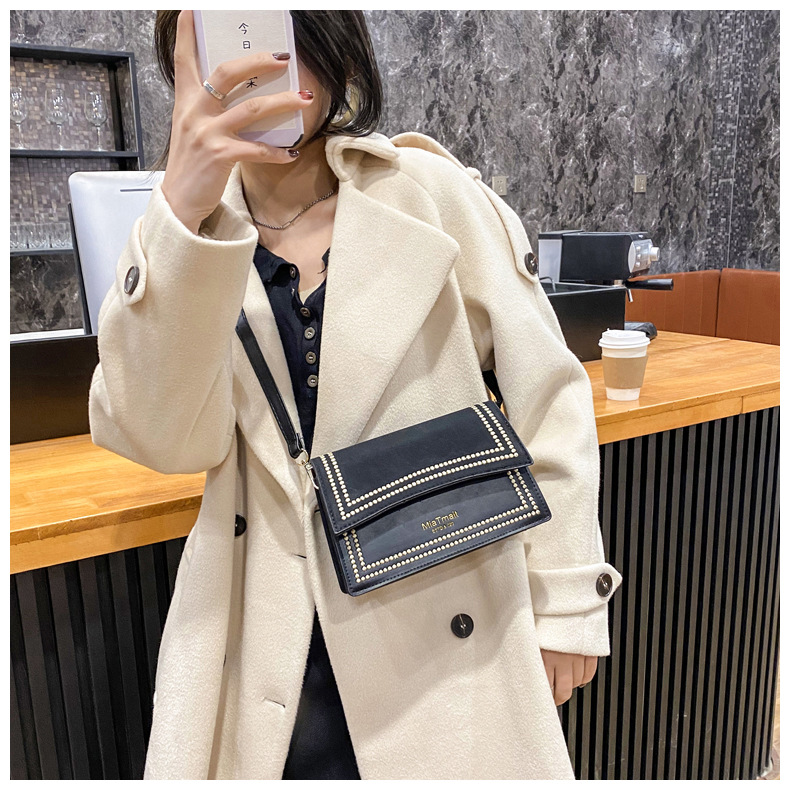 one-shoulder messenger fashion small square bag NHRU284616