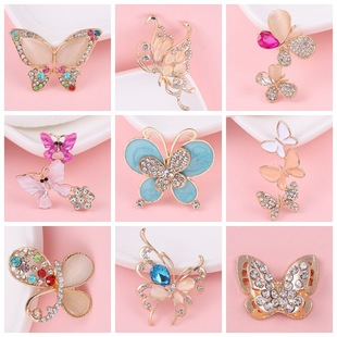 Creative and exquisite butterfly diy jewelry accessories flower plate buckle phone case beauty stickers diamond material alloy diamond hair accessories