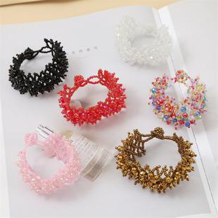 Boucles d39oreilles gomtriques goutte d39eau coquille  la main tendance boucles d39oreilles en cristal tiss bijoux en gros nihaojewelry NHLA235066