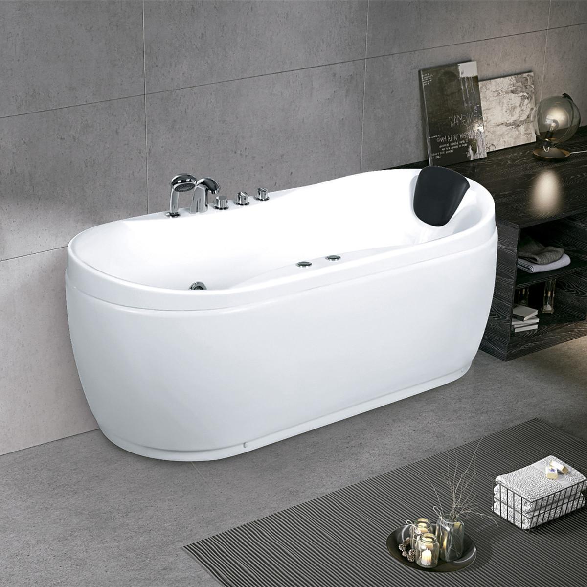 厂家直发亚克力冲浪按摩浴缸1.72米酒店工程成人泡澡浴盆批发零售