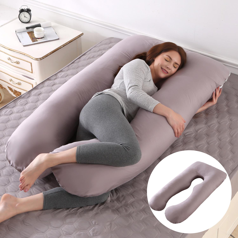 跨境孕妇枕头侧卧枕可拆洗U型枕午睡枕靠垫定制腰枕 工厂定制批发