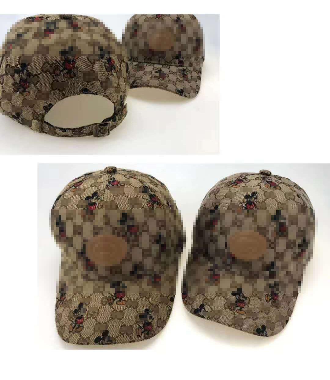 米老鼠G字母帽子新款G家棒球帽米奇网红同款户外运动百搭帽子批发