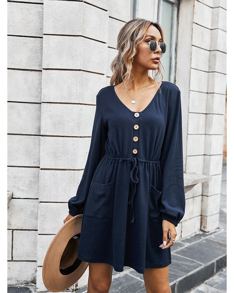 women's clothing autumn 2020 V-neck sexy dress women NSKA204