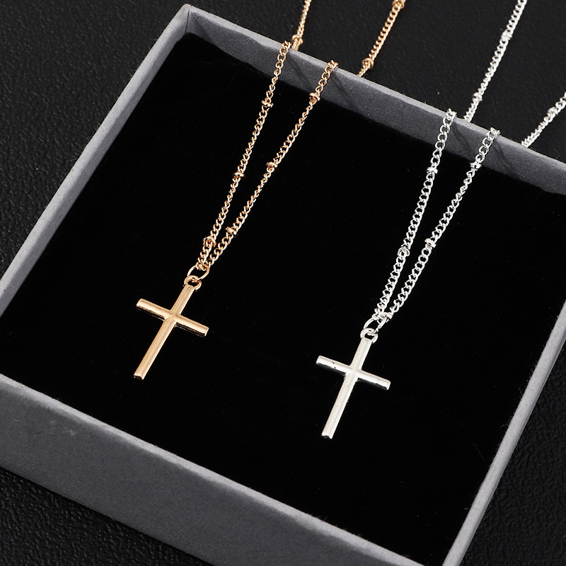 Accessories retro fashion cross necklace for women simple cross necklace NHNZ201901