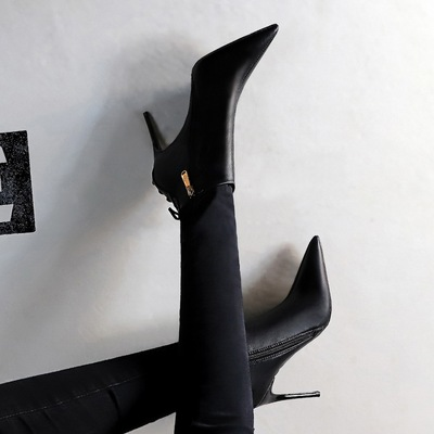 The 173-8 euramerican style restoring ancient ways of fine with high heels pointed sexy lace-up after nightclub show thi