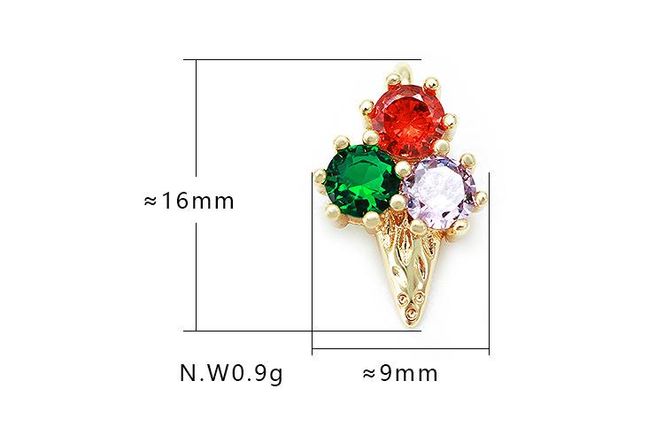 Fashion ice cream zircon copper accessories NHWV330693