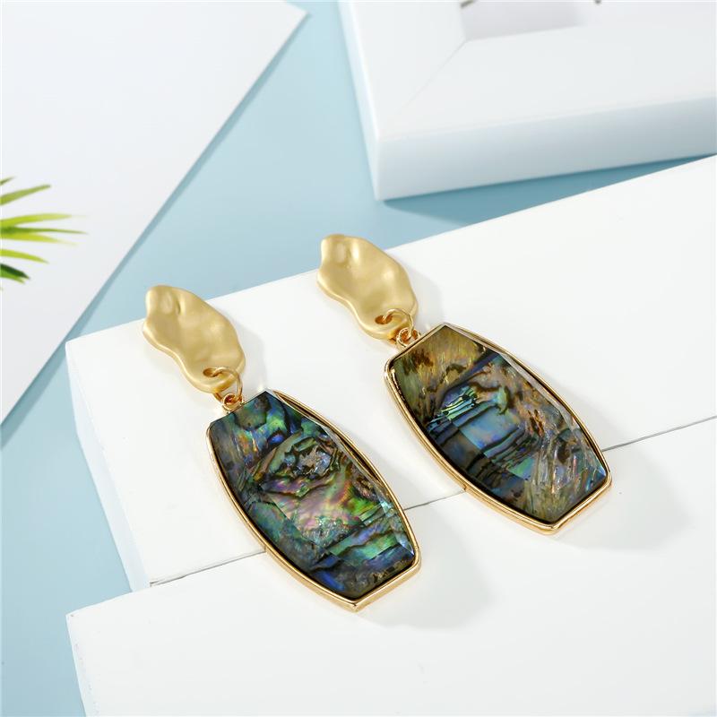 Fashion Jewelry Abalone Bell Earrings Resin Shell Earrings Long Earrings wholesales  NHGO201033