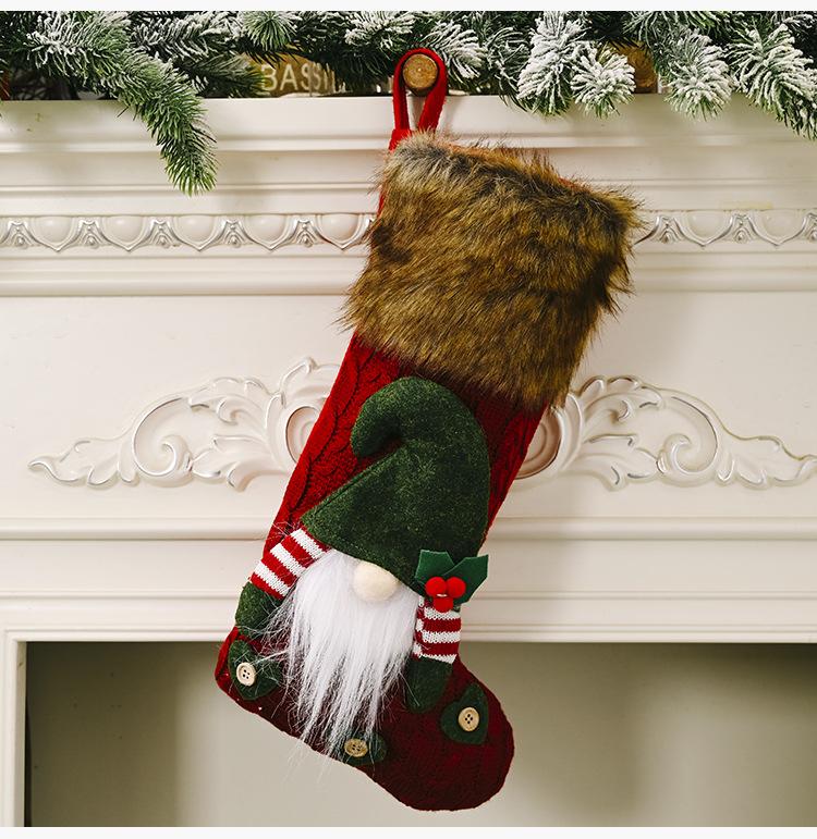 Christmas Decorations Faceless Doll Fluff Christmas Socks    NHHB262275