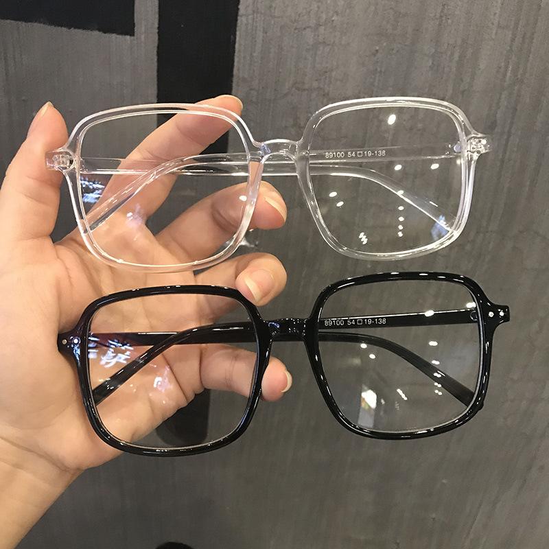 防辐射眼镜女ins学生韩版黑色透明无度数圆脸潮流网红可配近视男