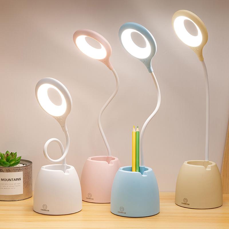 台灯护眼学习创意礼品led宿舍书桌学生台灯usb充电儿童夜读小台灯