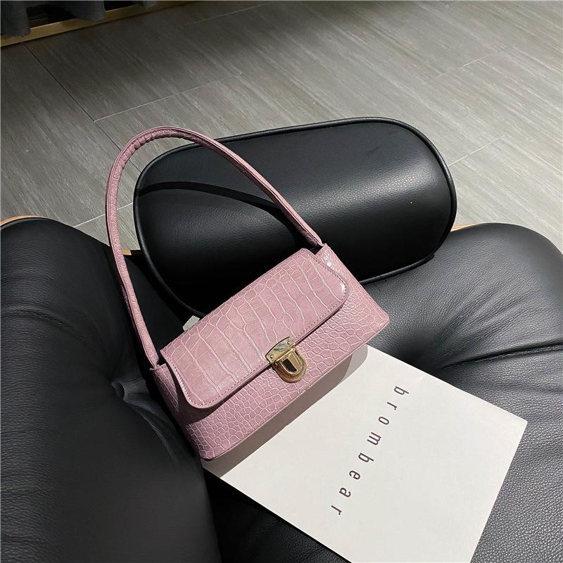 Small Bag Women Stone Pattern Shoulder Bag Underarm Bag