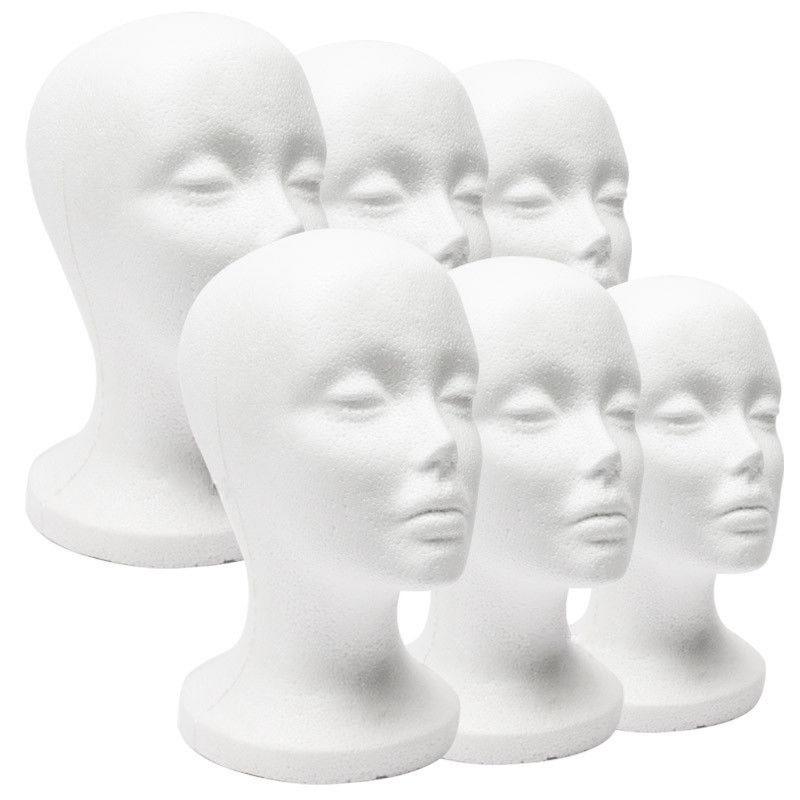 泡沫模特头 假人头模 女泡沫头头模模型 假人头 展示假发用头模