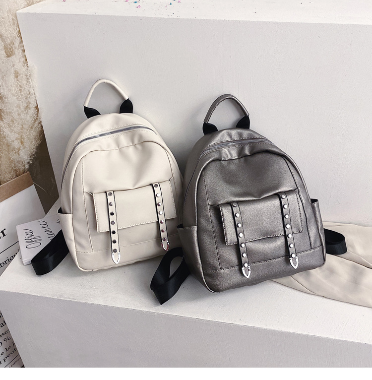 Backpack for women backpack new Korean wild fashion soft leather ladies casual simple small backpack cheap NHTC202267