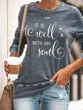 Women's IT IS Well WITH MY Soul Print Top独立站shopify爆女T