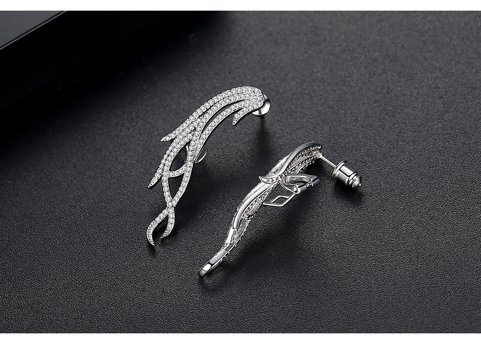 fashion banquet ladies copper inlaid zirconium earrings wholesale nihaojewelry NHTM237134