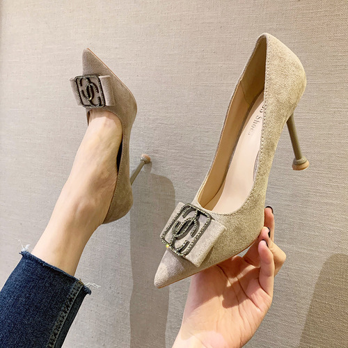 Europe and the United States, 9333-021 and sexy pointed shallow mouth high-heeled shoes web celebrity diamond thin with women's shoes nightclub show thin women's shoes