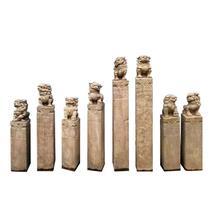 拴马桩石雕仿古青石拴马石貔貅石狮子麒麟四神兽栓拴马柱做旧装饰