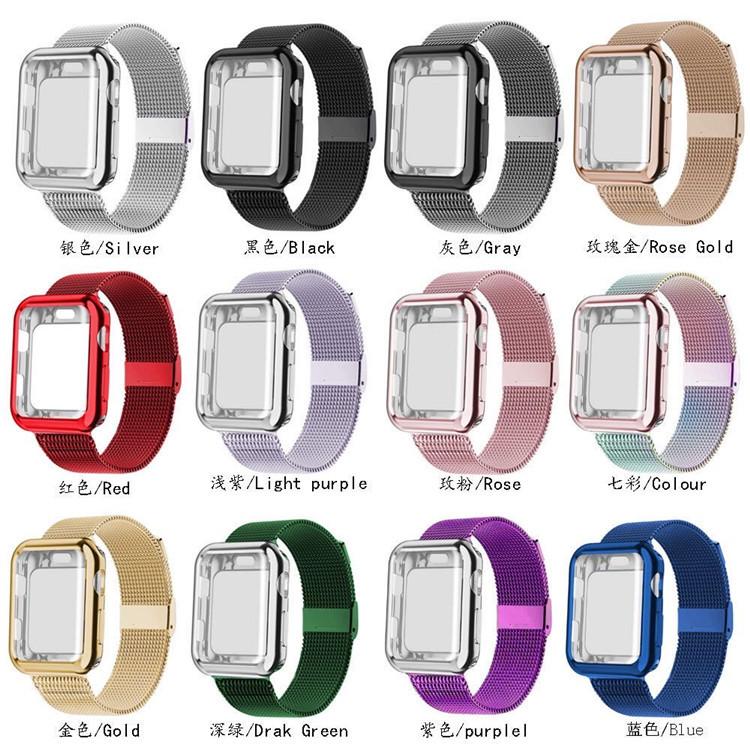 适用Apple iWatch苹果磁吸手表带42/44mm金属表带腕带新款时尚女