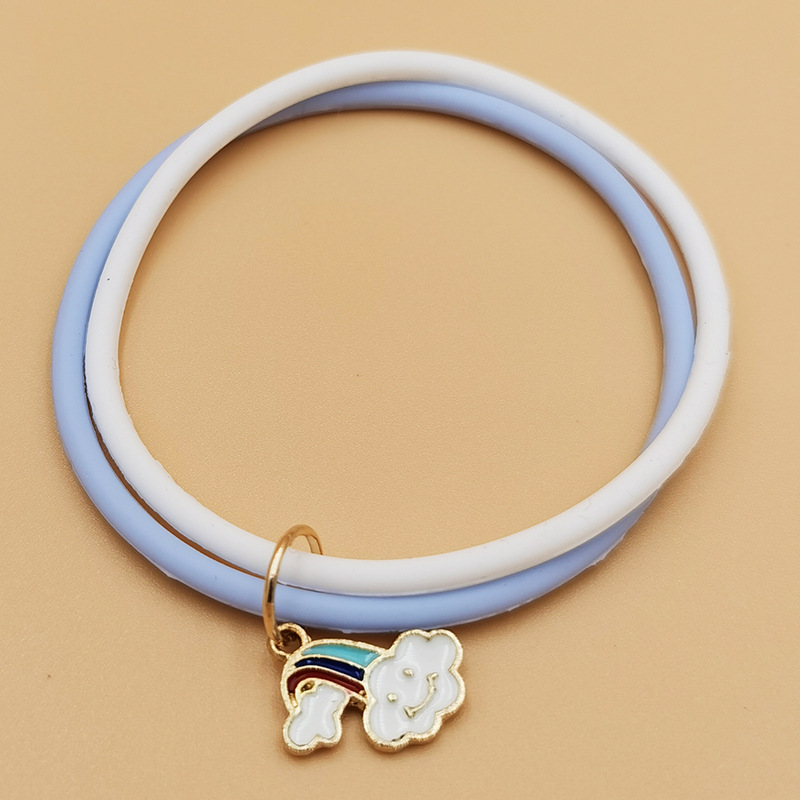 baby cute pendant mosquito repellent bracelet summer outdoor portable anti-mosquito repellent bracelet double ring wholesale nihaojewelry NHDI219519
