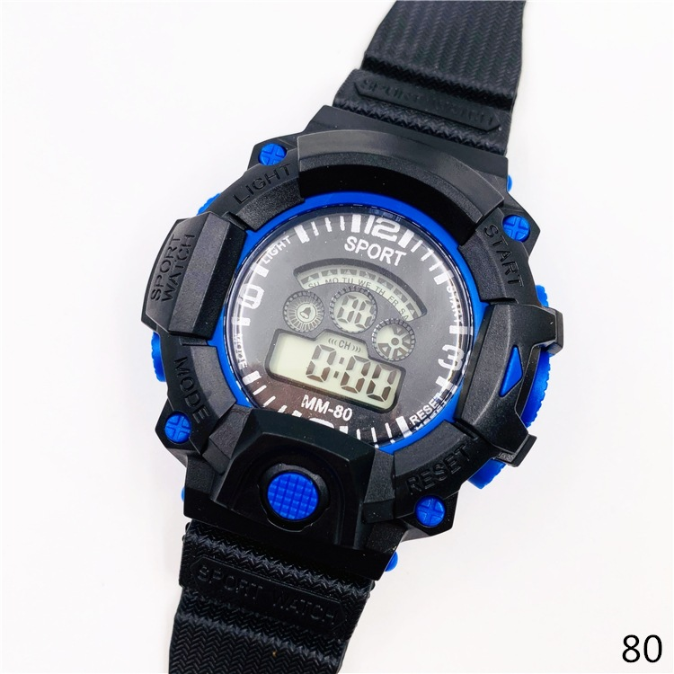 新款80中小学生手表 防水运动手表 LED七彩灯运动手表 跨境爆款