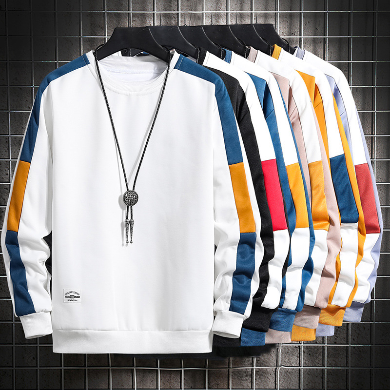 Men's Round Neck Pullover Long-sleeved Sweater Sports Casual Men's Clothing