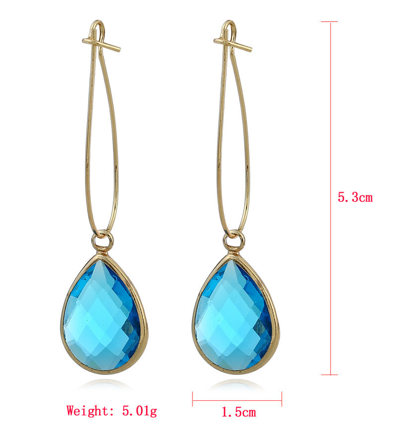 New simple long earrings crystal earrings colored water drop crystal earrings NHJJ199348