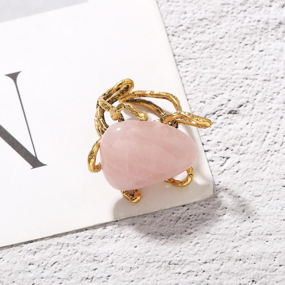 creative fashion irregular stone ring bohemian personality exaggerated trendy temperament punk ring wholesale nihaojewelry NHJQ220030