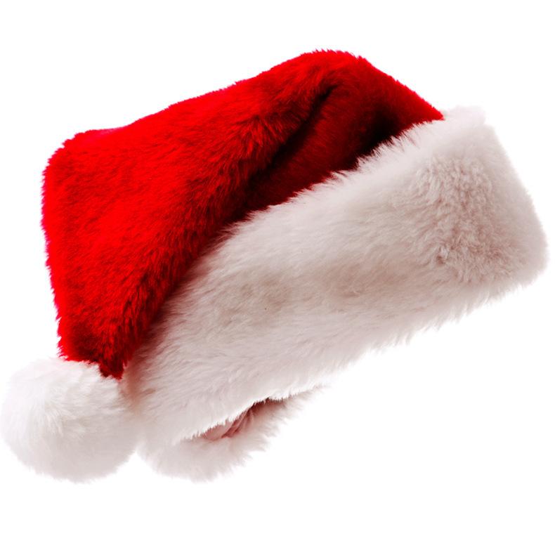 青檬圣诞节装饰品长绒帽短绒帽派对节日礼物加大加厚圣诞帽定制