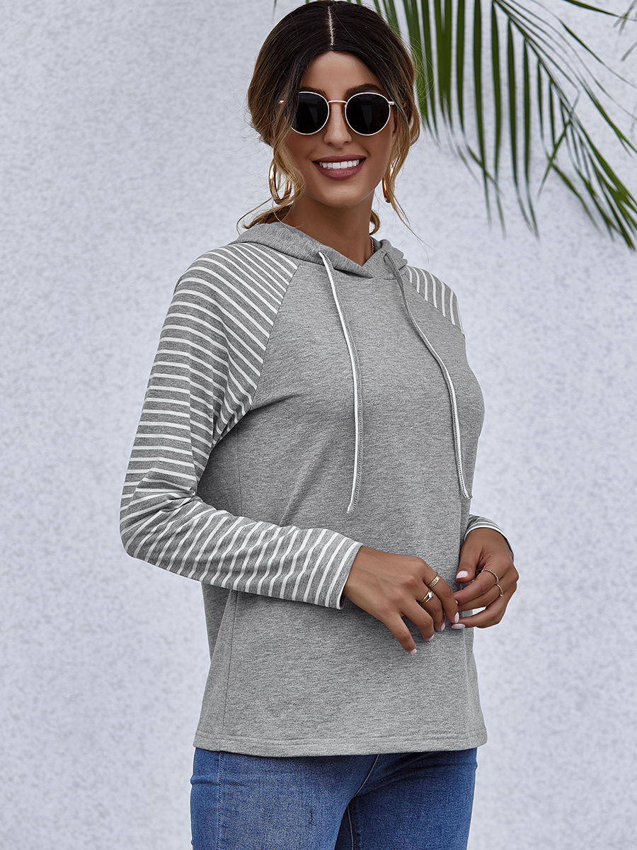 autumn and winter hooded top women's casual thin sweater NSAL6705