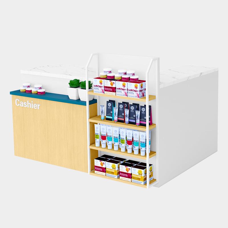 大沣货架定制化妆品店收银台精品店超市货架收银展示架