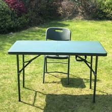 野战指挥桌部队制式塑料桌士兵便携式折叠桌户外军绿色吹塑作业桌