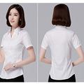 60棉女職業襯衫短袖工裝單位職員上班族工作襯衫商務短袖襯衣批發