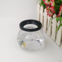吹塑厂家直销500ml化妆品洗刷清洁瓶透明塑料鱼缸pet广口培植罐
