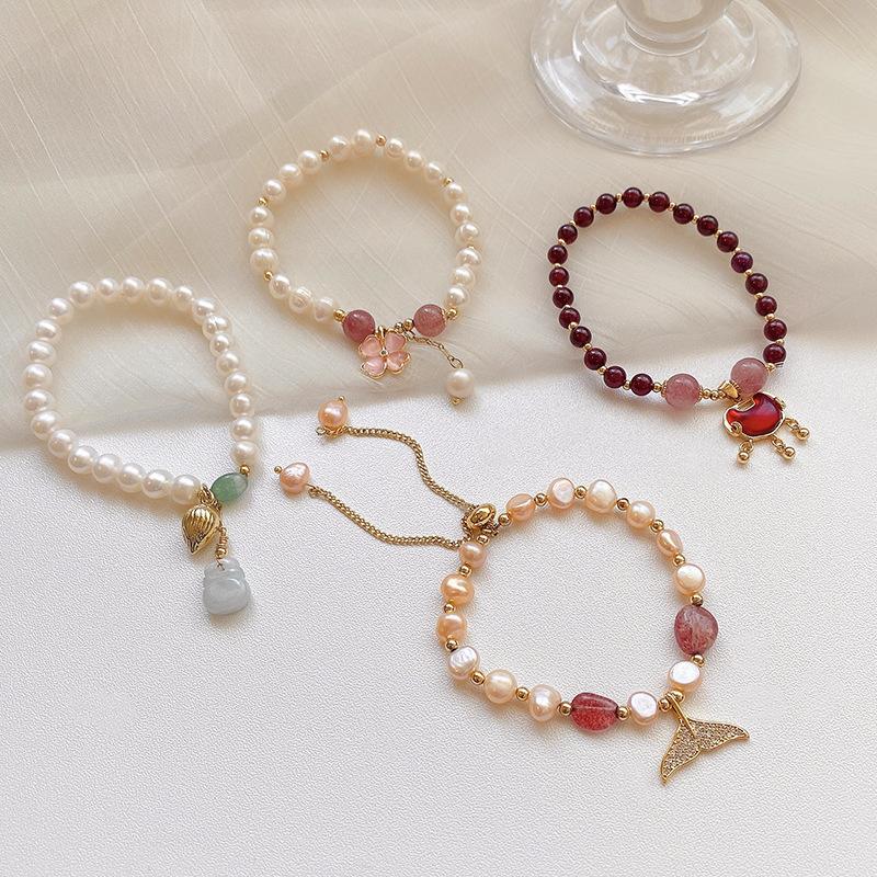 专柜奢侈品天然红宝石手链女时尚 鸽血红18K玫瑰金镶嵌彩宝钻手镯