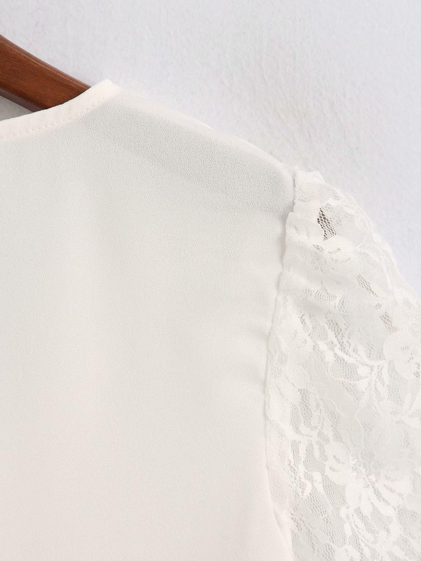 Wholesale new v-neck lace short-sleeved shirt T-shirt NHAM201581