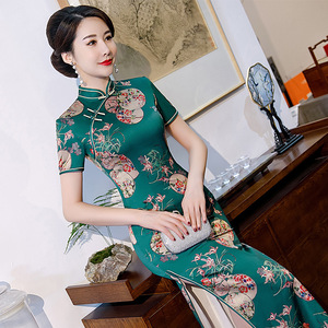 Chinese Dress Qipao for women long cheongsam for performance ress with large size Robes chinoises