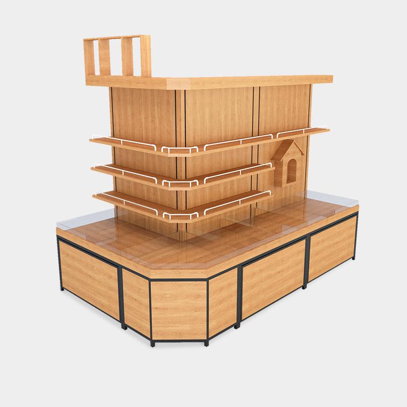 食品货架超市花茶柜五谷杂粮展示柜精品木质超市货架
