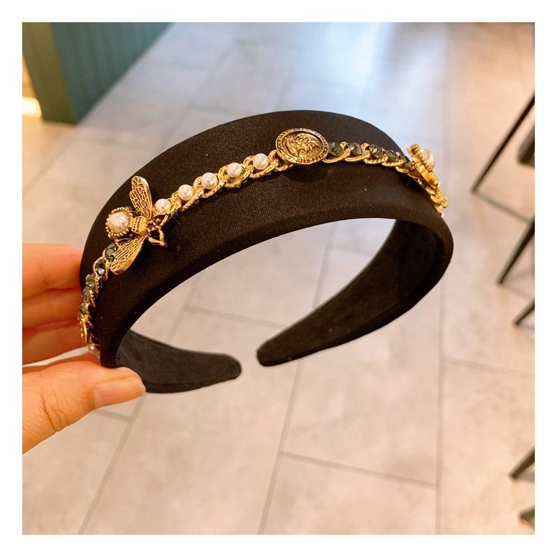 Baroque retro metal simple headband  NHHD312639