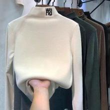 2020秋冬德绒修身内搭半高领保暖打底衫新款韩版长袖t恤女装批发