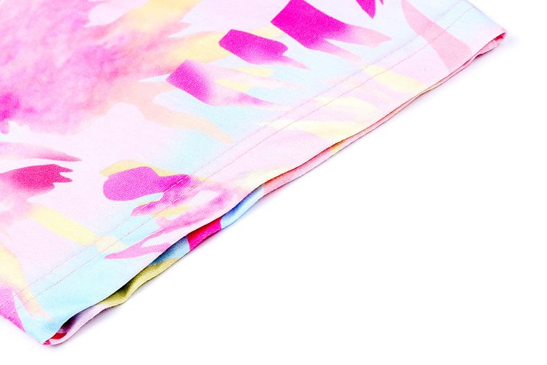 summer new women's hot style casual tie-dye printing long T-shirt top NSKX6067